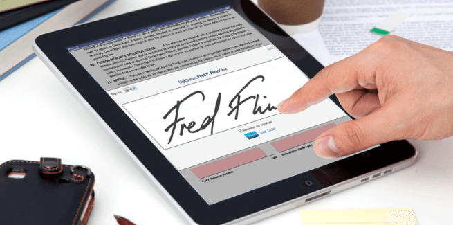 E-signatures are becoming more common these days.